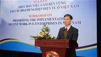 Tọa đàm thúc đẩy việc làm bền vững tại các doanh nghiệp điện tử ở việt Nam