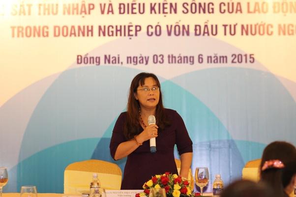 PGS.TS. Nguyễn Thị Lan Hương – Viện trưởng Viện Khoa học Lao động và xã hội khai mạc hội thảo